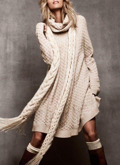 836d4883fd Krém színű, bő, kötött ruha / Ruhák - Képtáram | Cool clothes ...