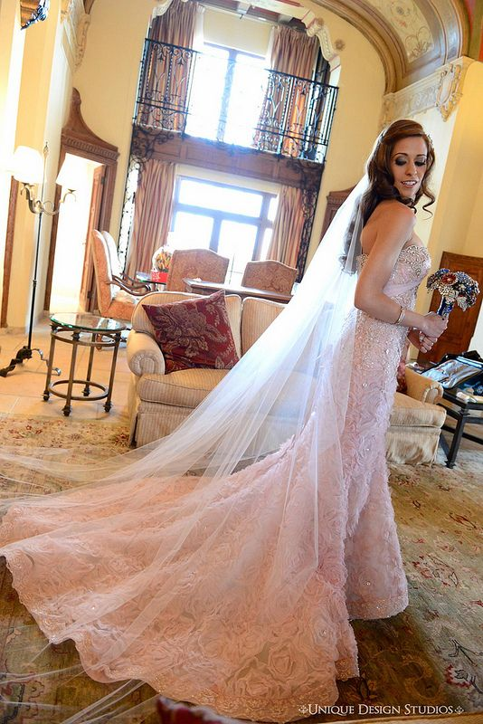 Beautiful Phone Wearing Her Blush Bridal Veil From Styles Boutique It Matched