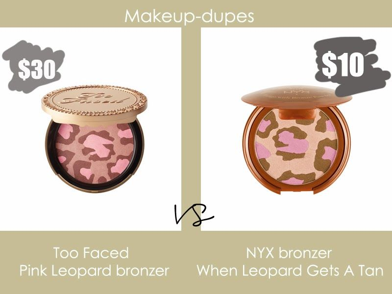 Too Faced leopard bronzer dupe