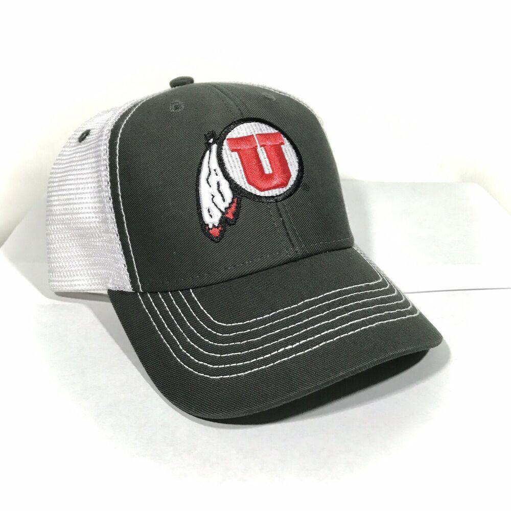 University of UTAH UTES NCAA College Red Low Crown Curved Baseball Ball Cap Hat