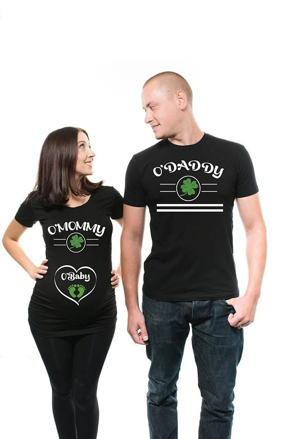 ee57aaff0 Maternity St Patrick's Day Couple Maternity Tshirts | Sweaters, Maternity  TeesTank Tops, Couple matching t-shirts, anniversary, baby shower t-shirts  for ...