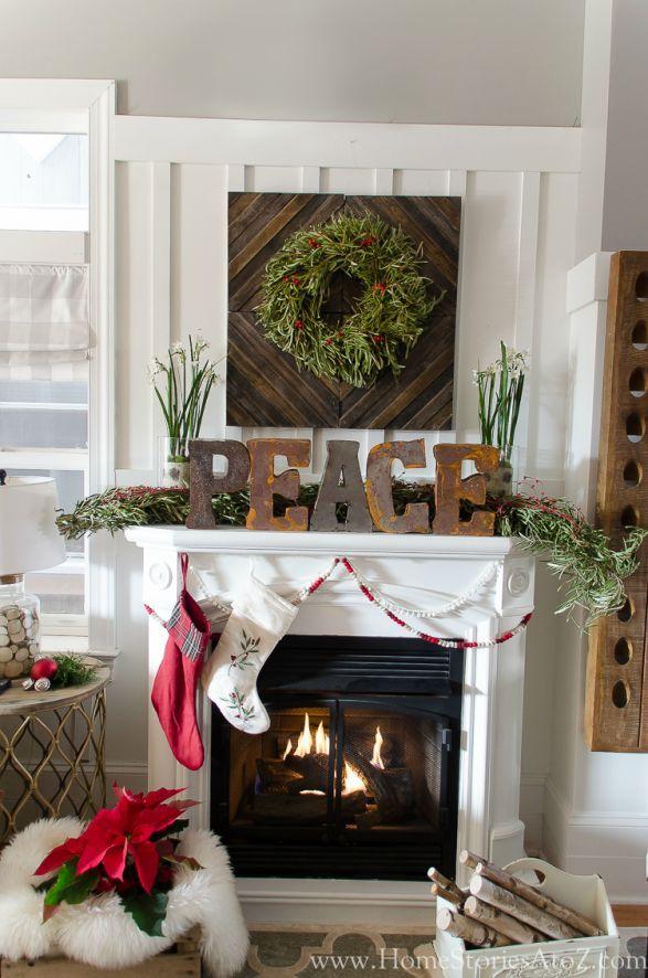 Christmas Mantel Christmas mantels, Mantels and Wreaths