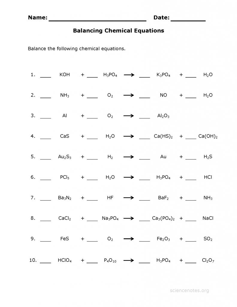 balancing chemical equations   Chemical equation ...