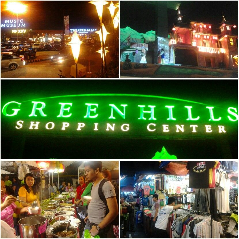 Christmas Bazaar, Foods, Display and Lights @ Greenhills, Philippines
