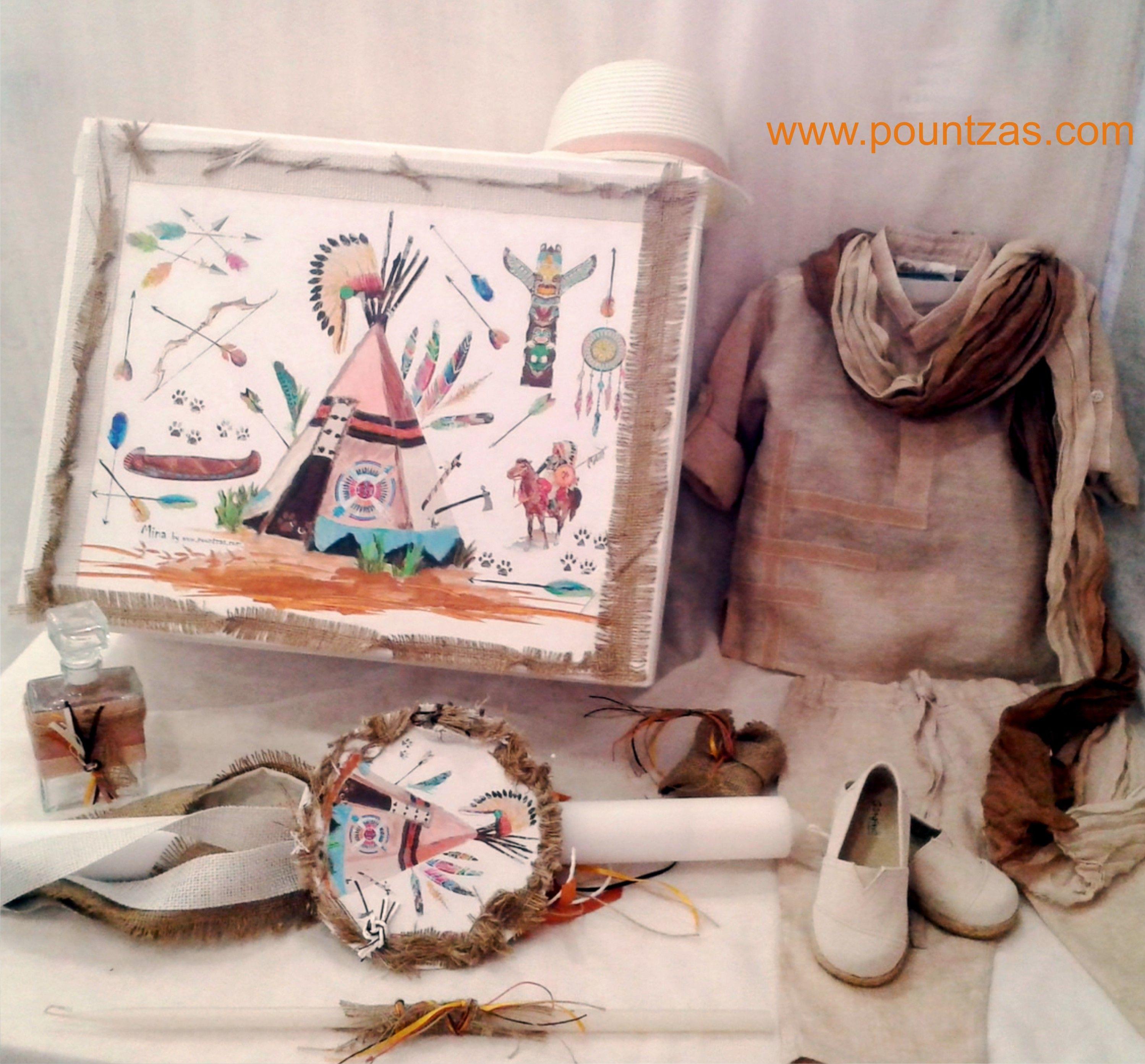49614b74039e Πακέτο Βάπτισης για Αγοράκι ΙΝΔΙΑΝΟΙ. Ρούχα Λινά (Παντελόνι ...