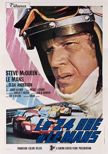 Le Mans Italian 4 Sheet Vintage Movie Poster Steve Mcqueen Steve Mcqueen Actor Steve Mcqueen Steve Mcqueen Movies