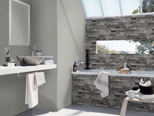 Tapete Beton Beton-Optik Rasch Pure Vintage grau 475210 ...
