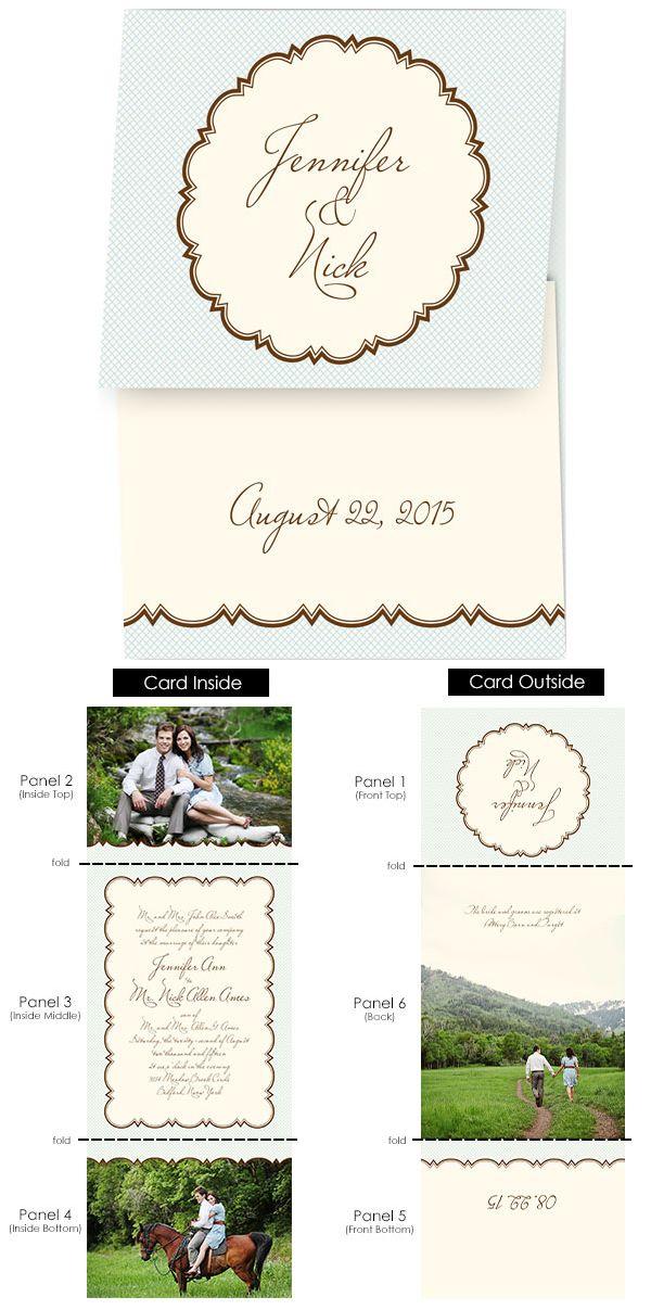 The Scalloped Frame Wedding Invitation | Photo wedding invitations ...