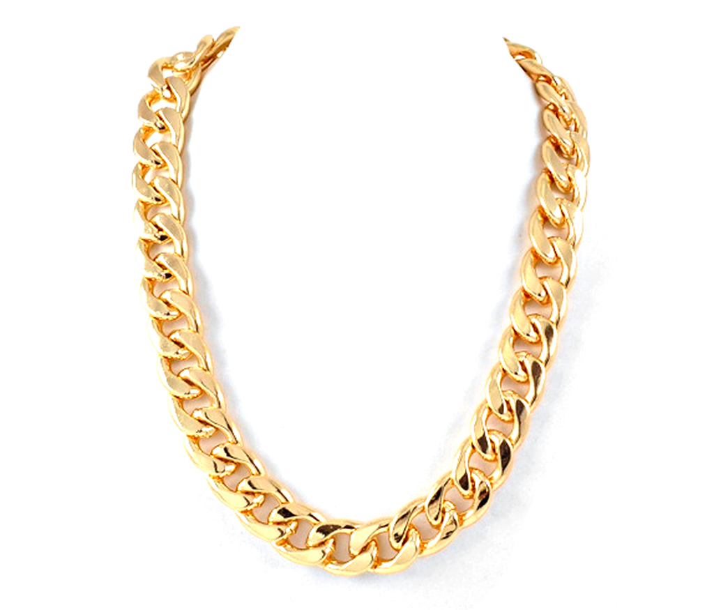 Punctuatewithakiss gold chain necklace for both male and female