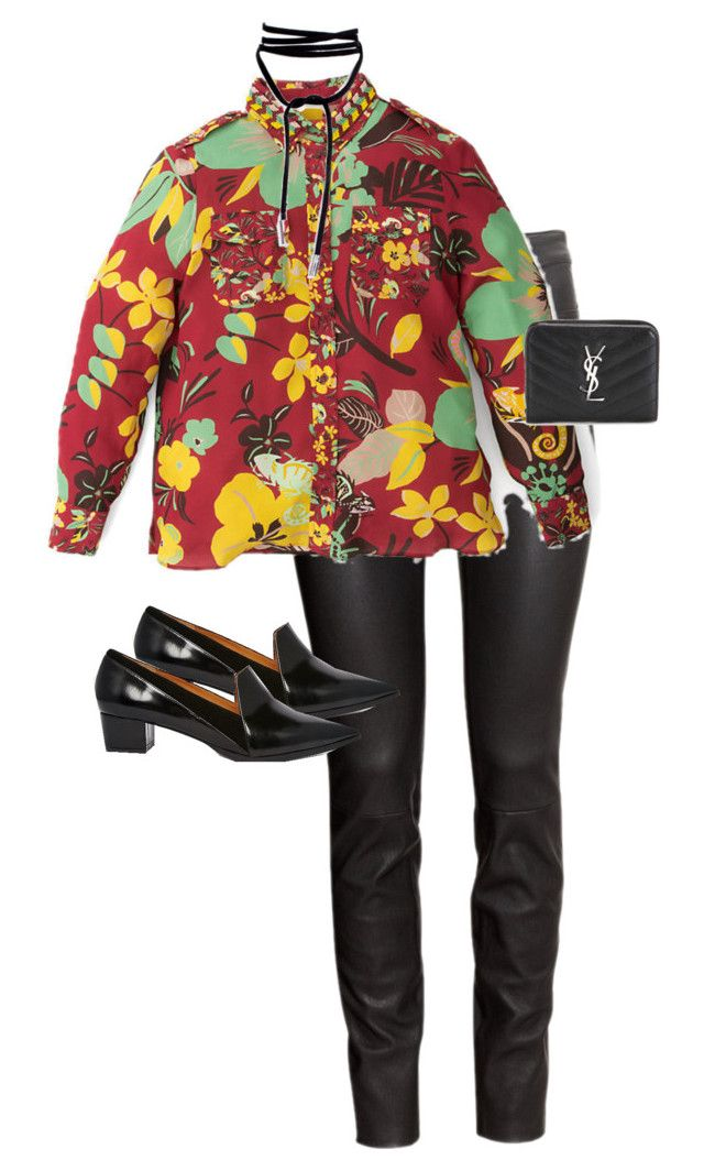 """""""Untitled #12123"""" by alexsrogers ❤ liked on Polyvore featuring H&M, Warehouse and Yves Saint Laurent"""