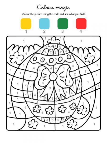 Colories avec les nombres : un oeuf de Pâques
