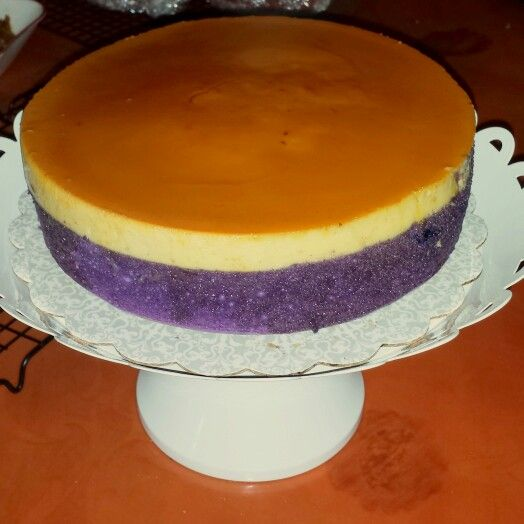 Filipino Chocolate Cake With Custard Filling