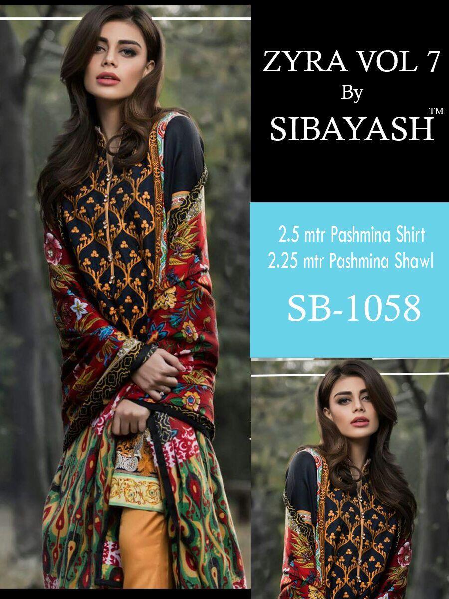 c82e6c2963 Zyra Vol-7 Pashmina Digital Print Suits (8 pc catalog) | wholesale ...