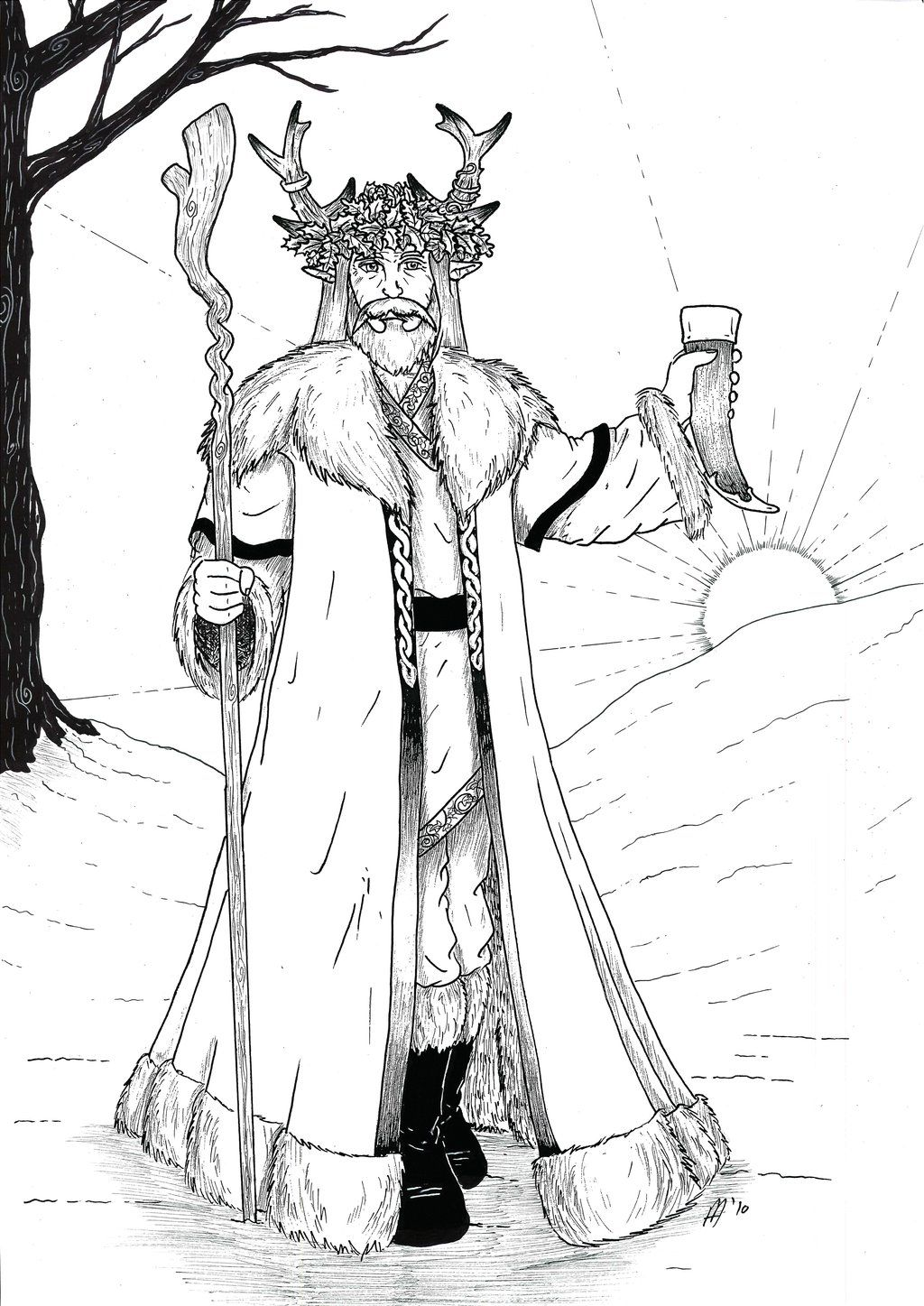 Pagan Yule Coloring Pages Coloring Pages Pinterest Yule