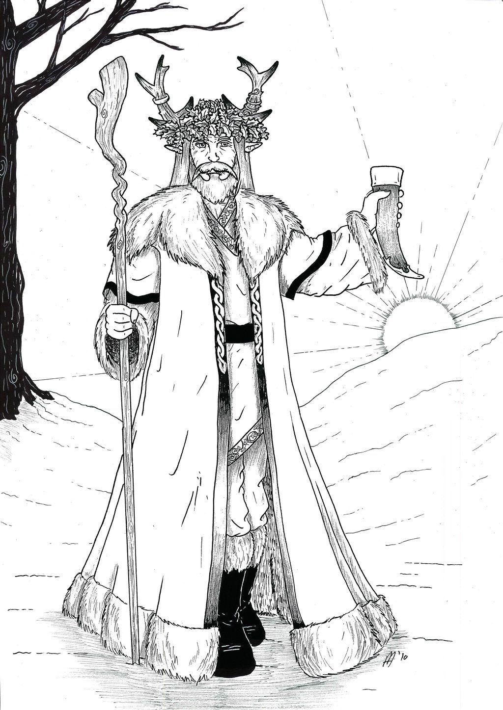 Ausmalbilder Nikolaus Mit Krampus : Pagan Yule Coloring Pages Pagan Coloring Pages Pinterest