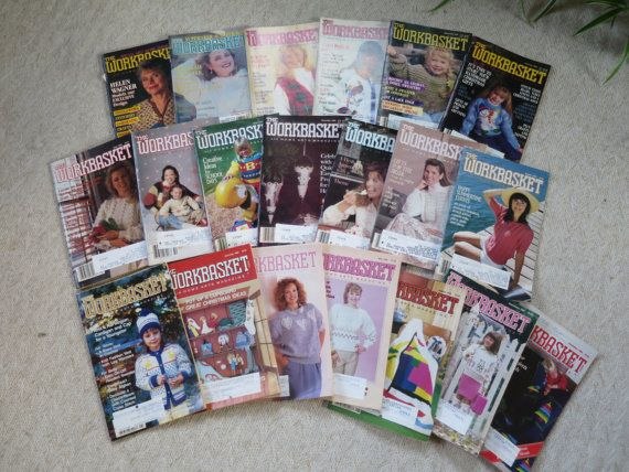 20 Vintage Workbasket Magazines Knit By Bonniesvintageattic Bons