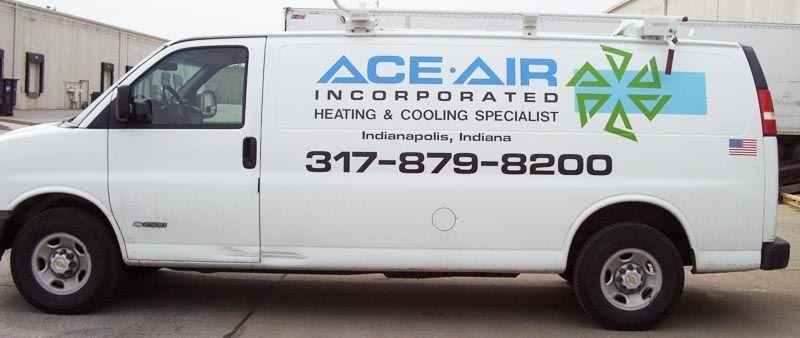 Ace Air Van Graphics Vehicle Graphics Vehicle Wrap Hvac