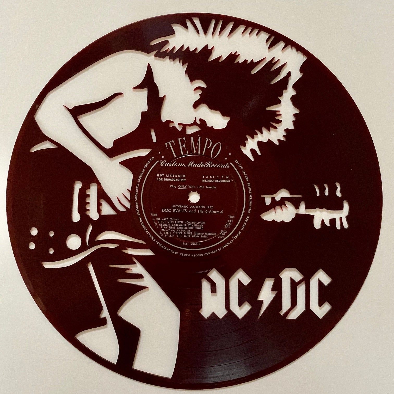 Excited To Share The Latest Addition To My Etsy Shop Ac Dc Vinyl Record Art Red Vinyl Https Etsy Me 36pmzt8 Office Vinyl Record Art Record Art Album Art