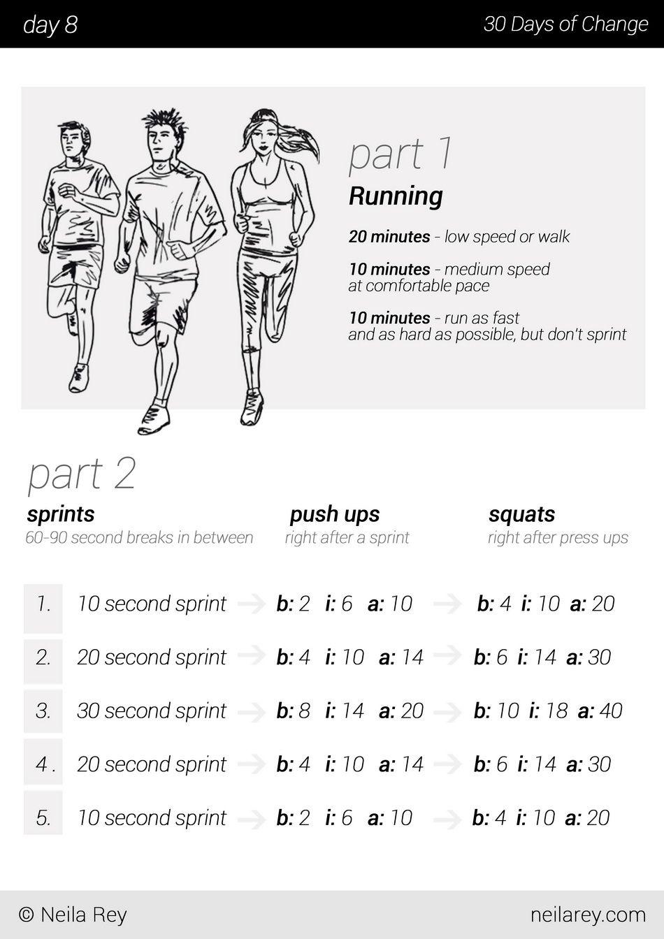 No equipment 30 day workout program - Imgur | 5K | Pinterest ...
