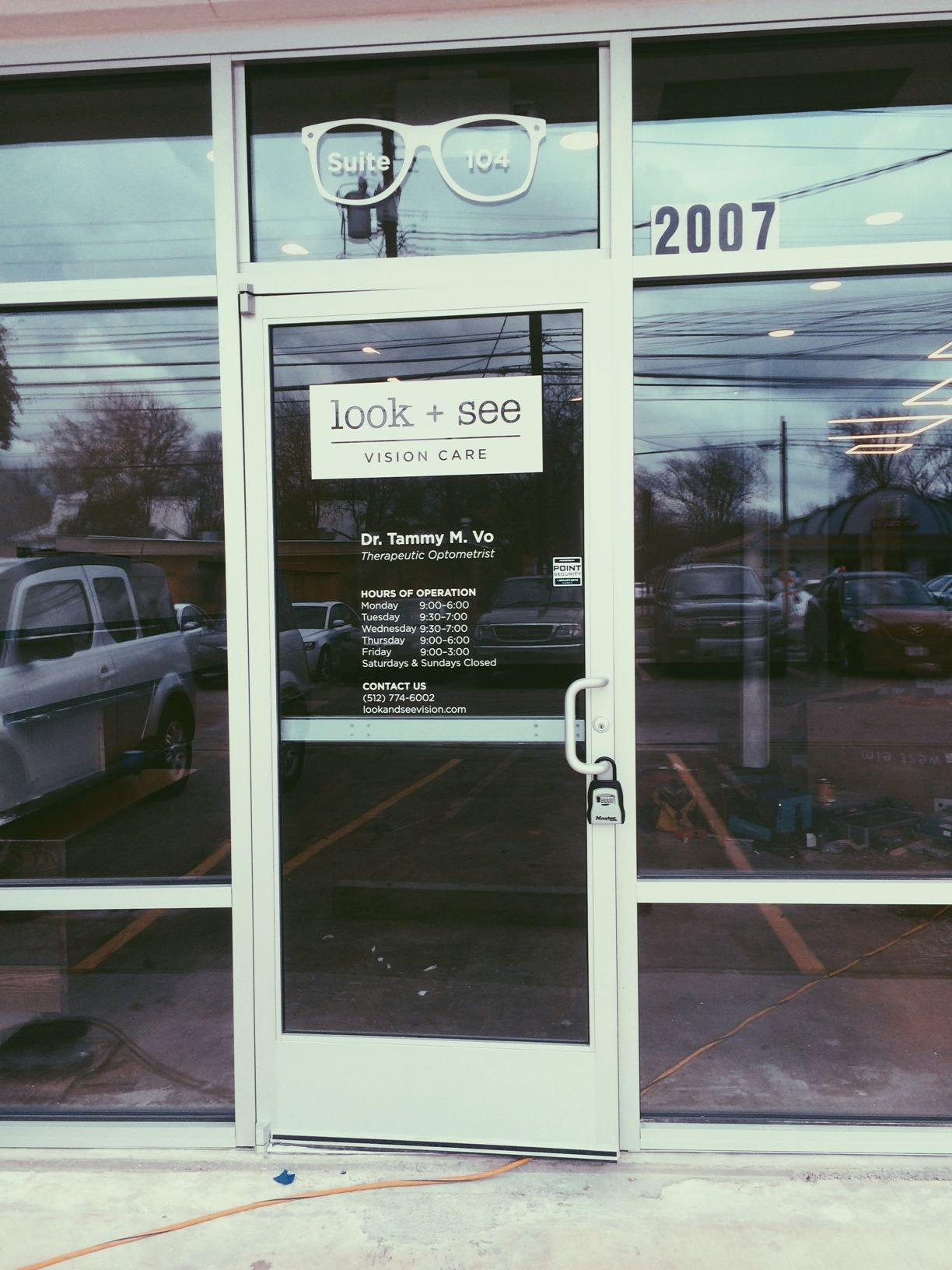 Storefront Door Signage Vinyl Lettering Office Hours