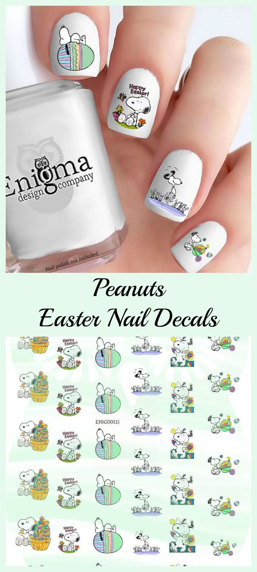 Peanuts Easter Nail Decals Charliebrown Snoopy Ad Decal