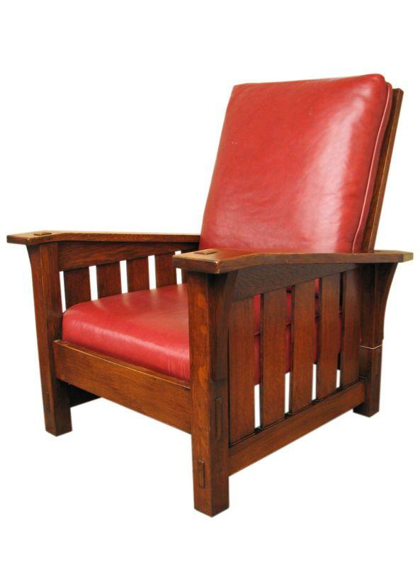 """Stickley """"Morris"""" chair."""