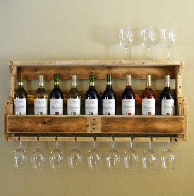 wedding gift ideas reclaimed wood wine rack diy projects pinterest vin support et maison. Black Bedroom Furniture Sets. Home Design Ideas