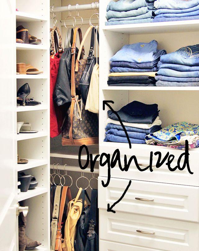 Attractive Hanging Purses And Handbags   Perfection! Use U201ceasy Glideu201d Shower Rings  (the · Handbag OrganizationOrganizing PursesHandbag StorageCloset ...