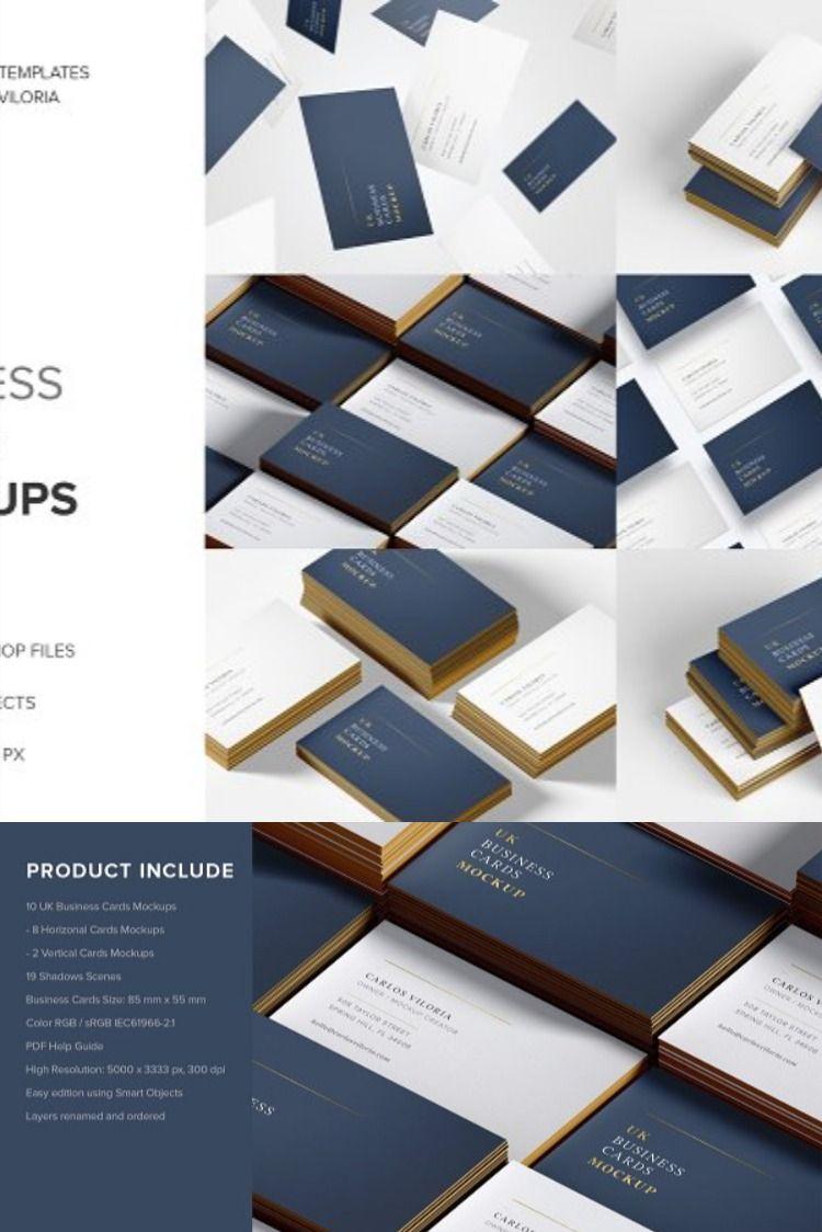Uk Business Cards Mockups In 2020 Business Card Mock Up Business Card Size Stationery Design