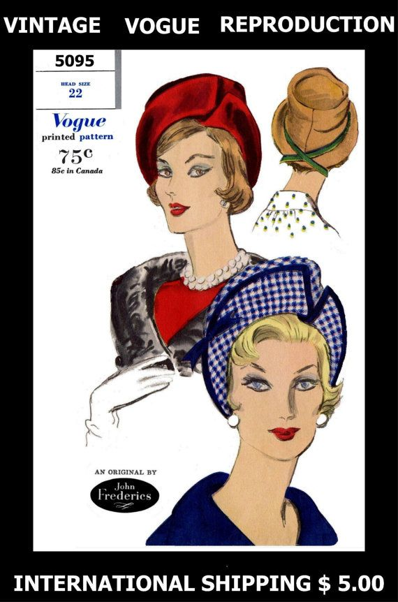1960/'s style lady heads 2 Vintage