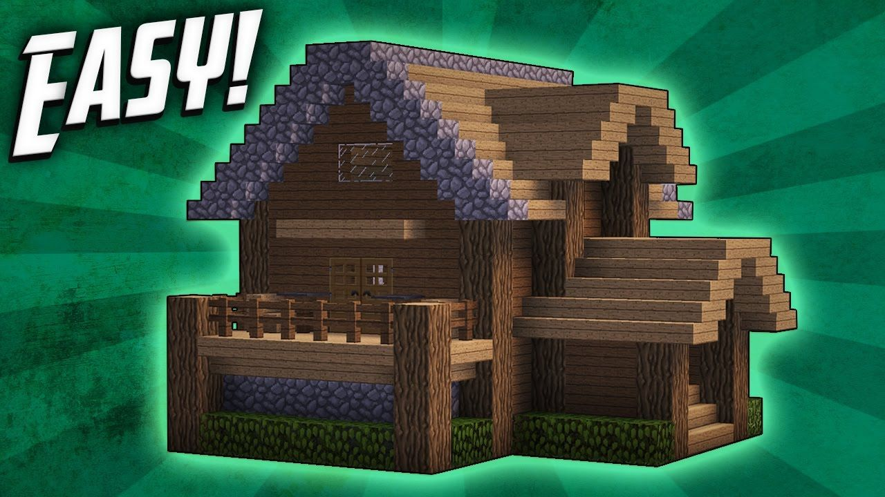 Minecraft How To Build A Survival Starter House Tutorial - Minecraft grobe hauser download