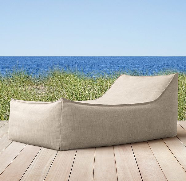 Ibiza Chaise Modern Outdoor Beanbag Restoration