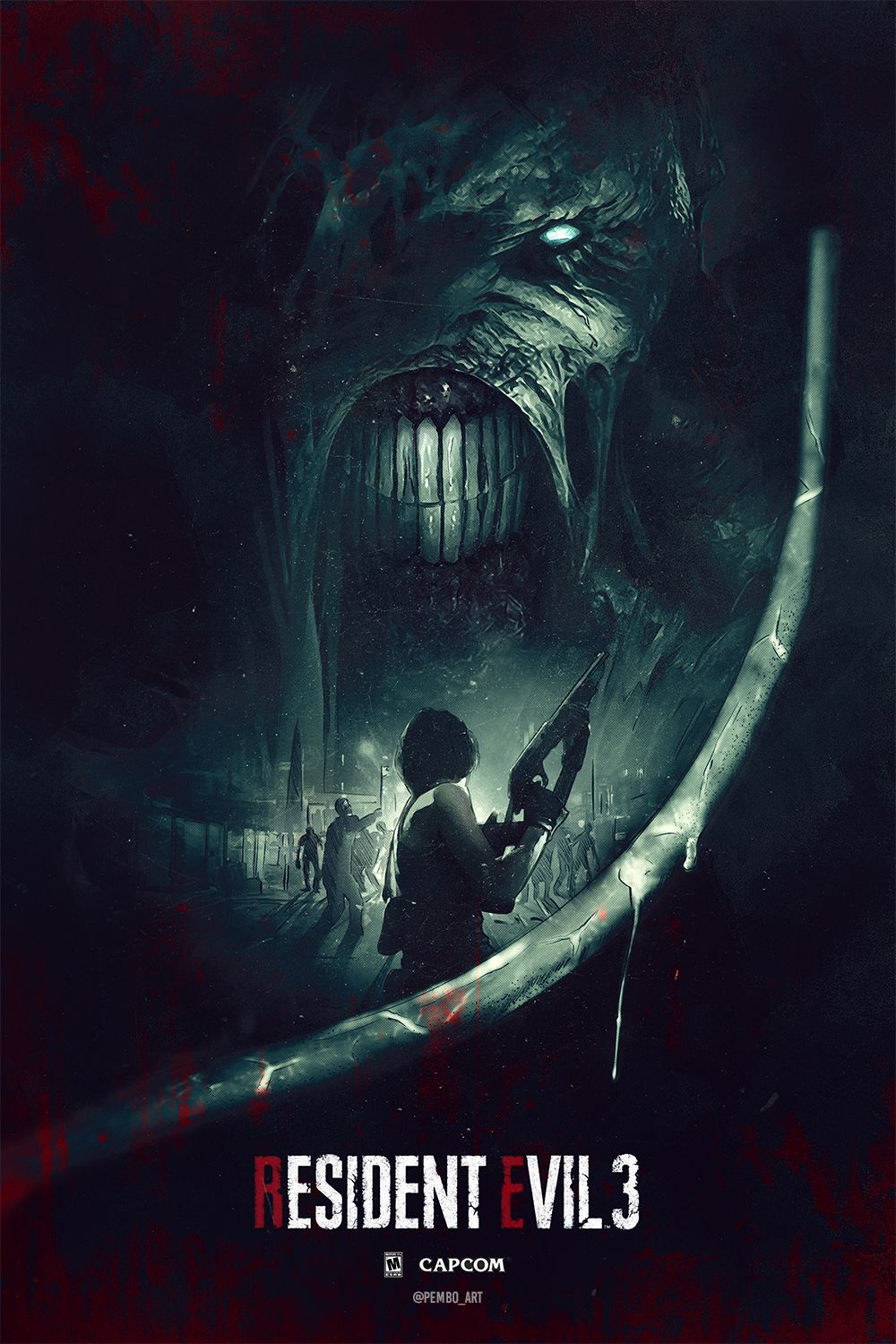 Resident Evil 3 Poster By Pembo Art In 2020 With Images