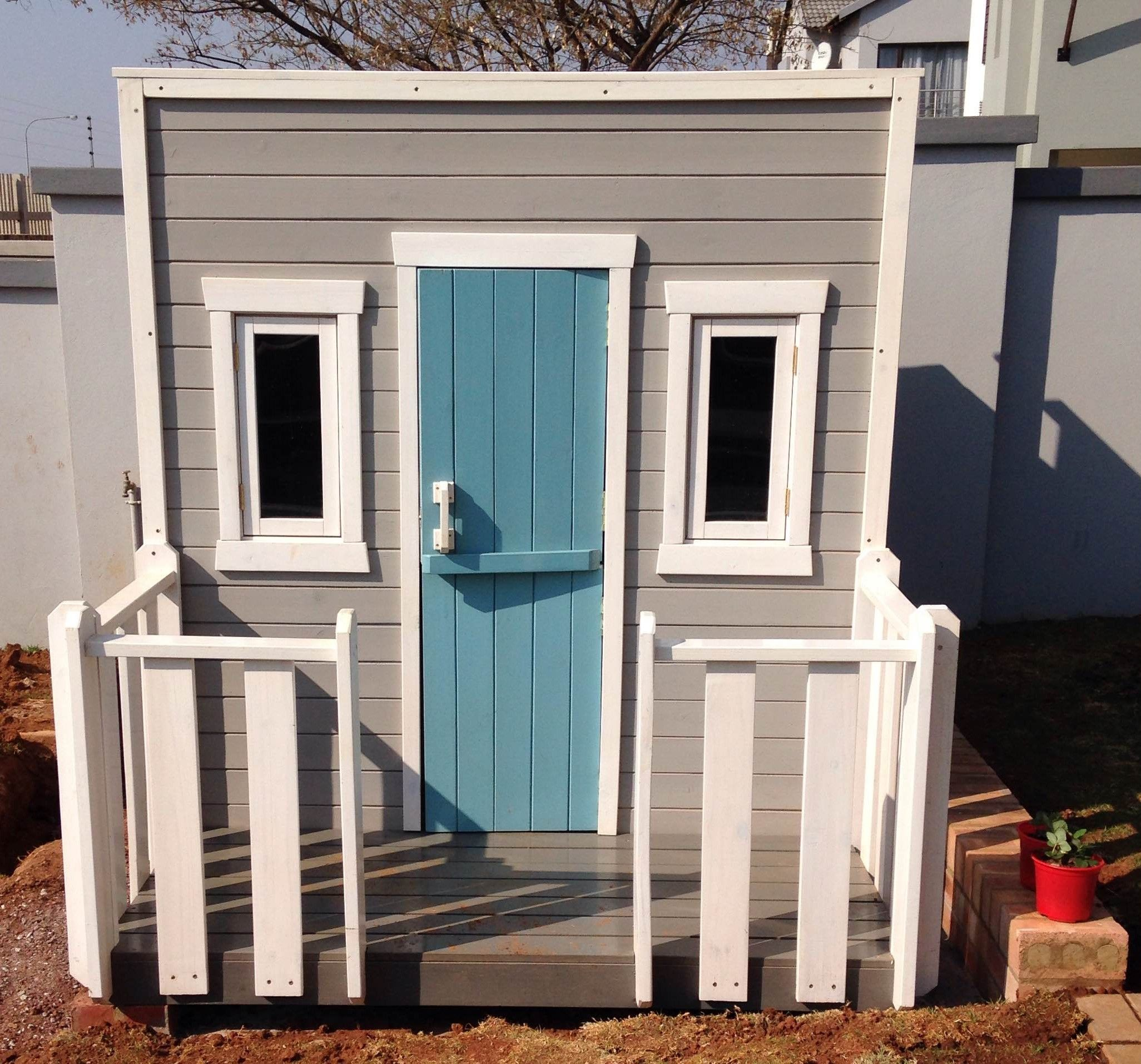 Playhouse With Slanted Roof And Stable Door