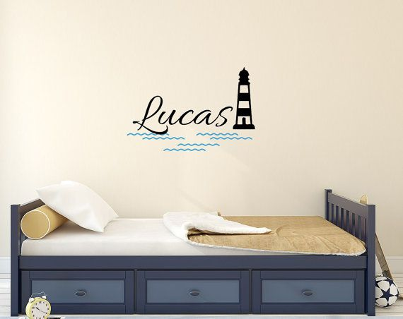 Personalized Wall Decals For Boys Name Lighthouse By BestDecals