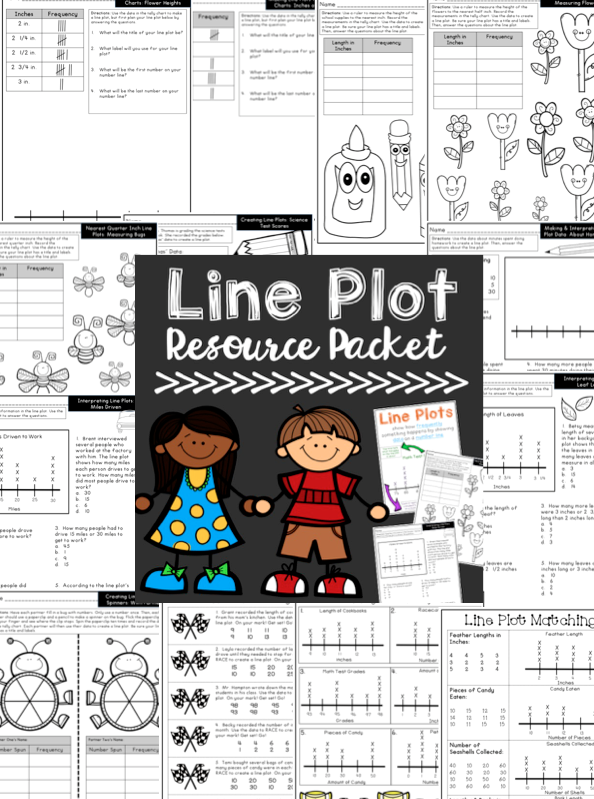Line plot activities, games, anchor charts, and tests ...