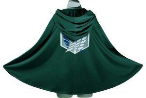 Buy it now at GeekGirl.store! If you get all of your fashion inspiration from Shingeki no Kyojin's Survey Corps, then this green hooded cloak, bearing the Wings of Liberty emblem on the front and back, is perfect for you! #TeamLevi