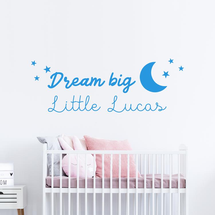 Muurstickers Babykamer Jongen.Muursticker Dream Big Little One In 2019 Muurstickers