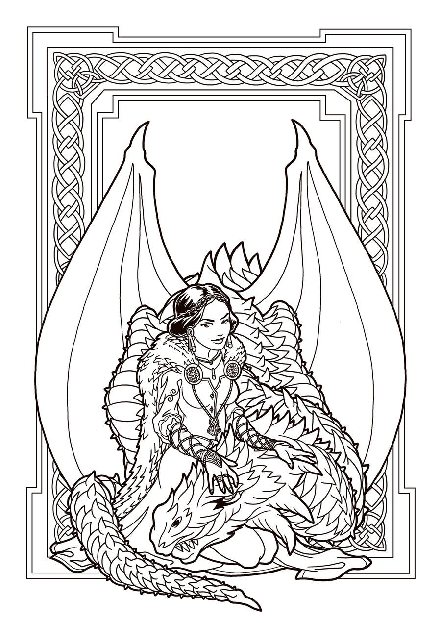 Dragon Enchantress lines by deviantAshtareth | Crafty | Pinterest ...