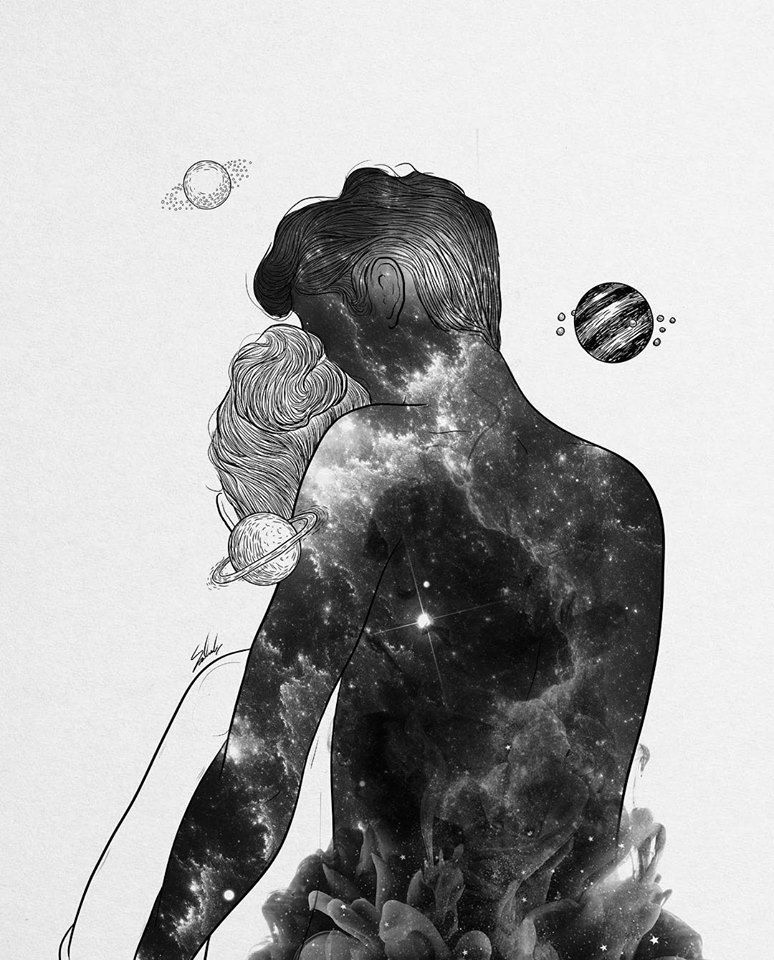 I Will Always Find My Way Back To You Art Galaxy Love Black