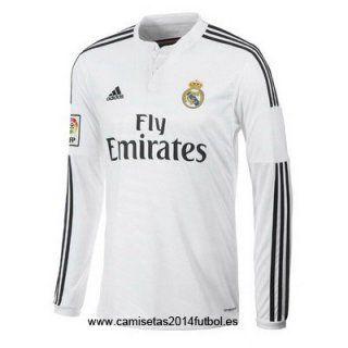 Nueva Camiseta del Real Madrid Manga Larga Primera 2014-2015 - Maillot de football, Maillot de ...