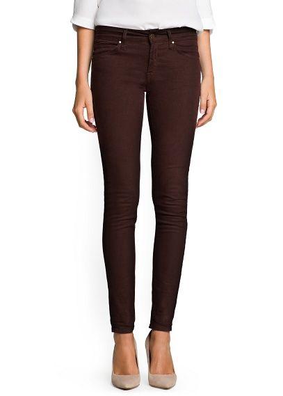 5b2748650fc Jeans super slim marrones