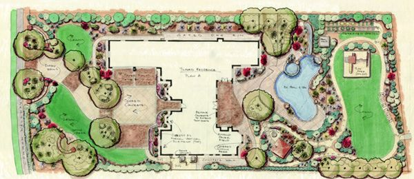 Casual Design Draft Plan A With Images Landscape Design