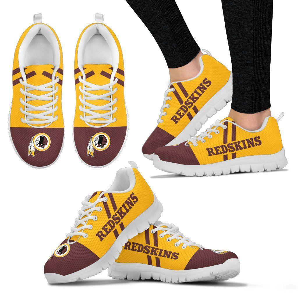 Line stripe logo bottom washington redskins sneakers