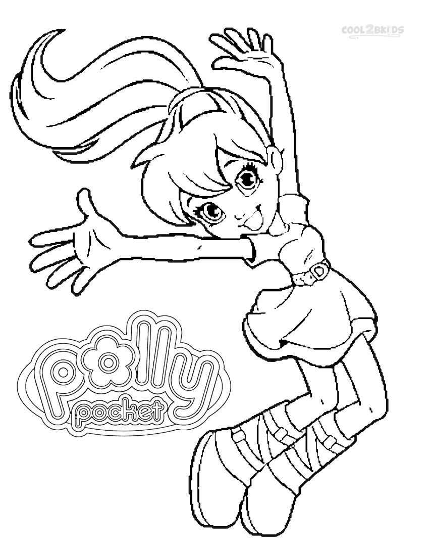 Printable Polly Pocket Coloring Pages For Kids  CoolBkids