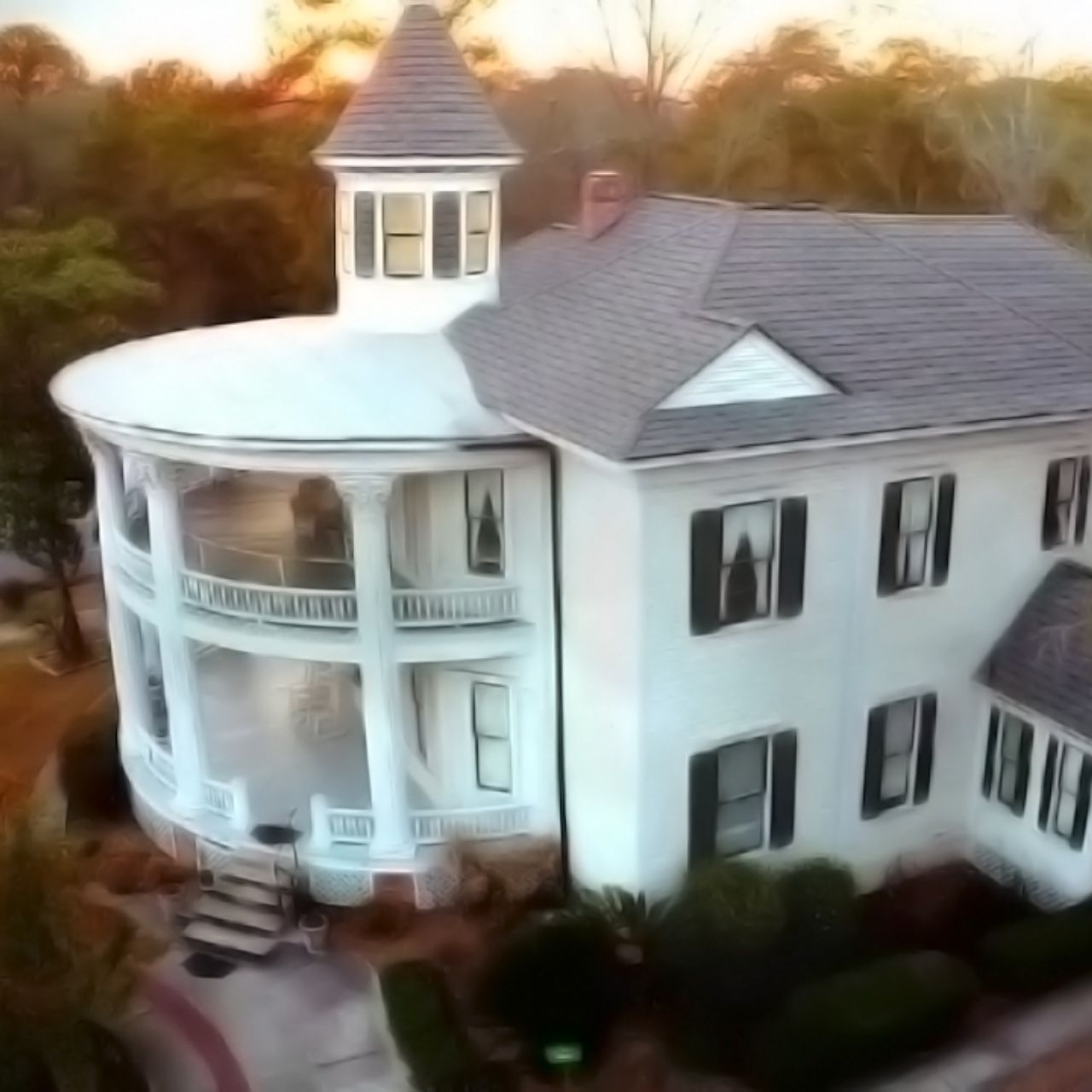 The Real Haunted Mansion Aerial Haunted Mansion Mansions Cinematographer
