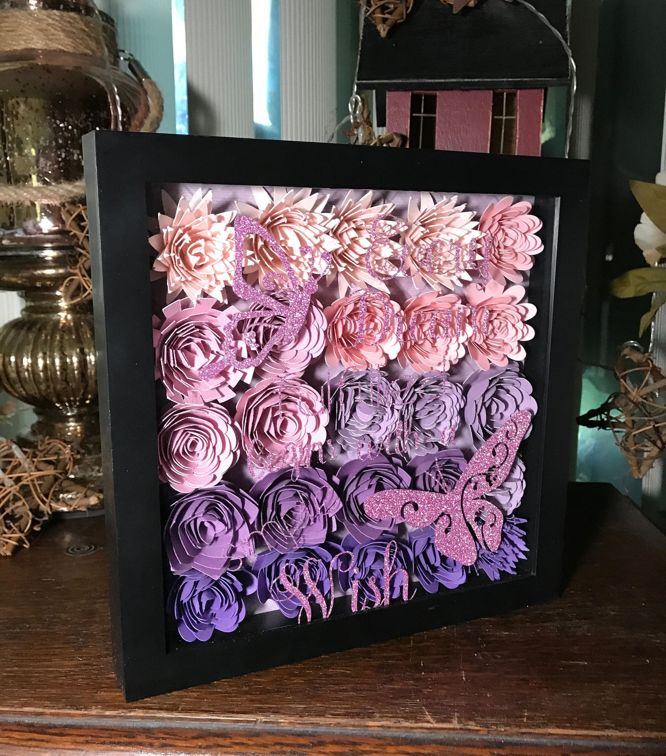 Every dream fulfilled begins with a simple wish shadow box