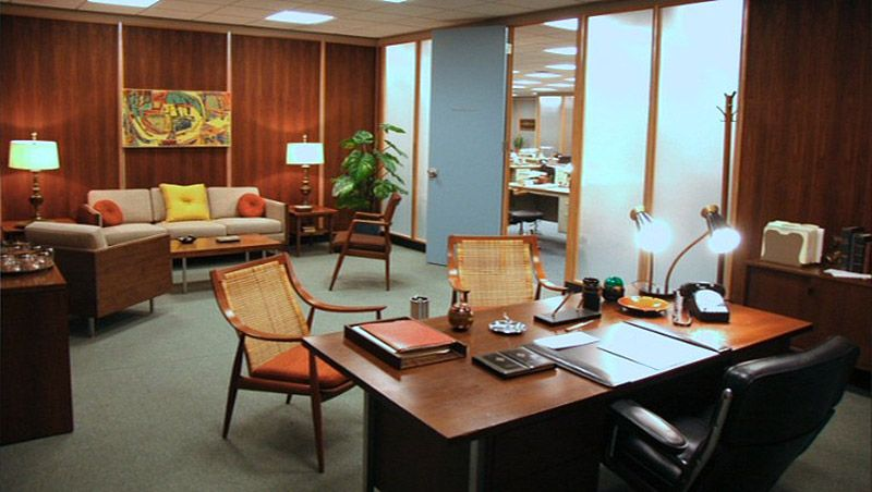 Looking To Recreate A Madmen Style Office Or Just To Mix Some Classic Mid Century Pi Mid Century Modern Office Mad Men Furniture Mid Century Modern Living Room