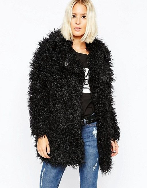 Cheap Monday | Cheap Monday Shaggy Faux Fur Coat | Furry 26 ...