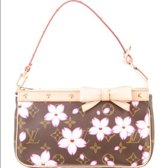 a4724ca3eb4 Cherry Blossom Pochette/ Limited Edition Louis Vuitton cherry Blossom  Pochette .... Retail 710$ date code reads AR0013 .... From the 2003 Takashi  Murakami ...